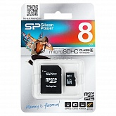 TransFlash 8Gb MicroSDHC Class 4 Silicon Power.адаптер